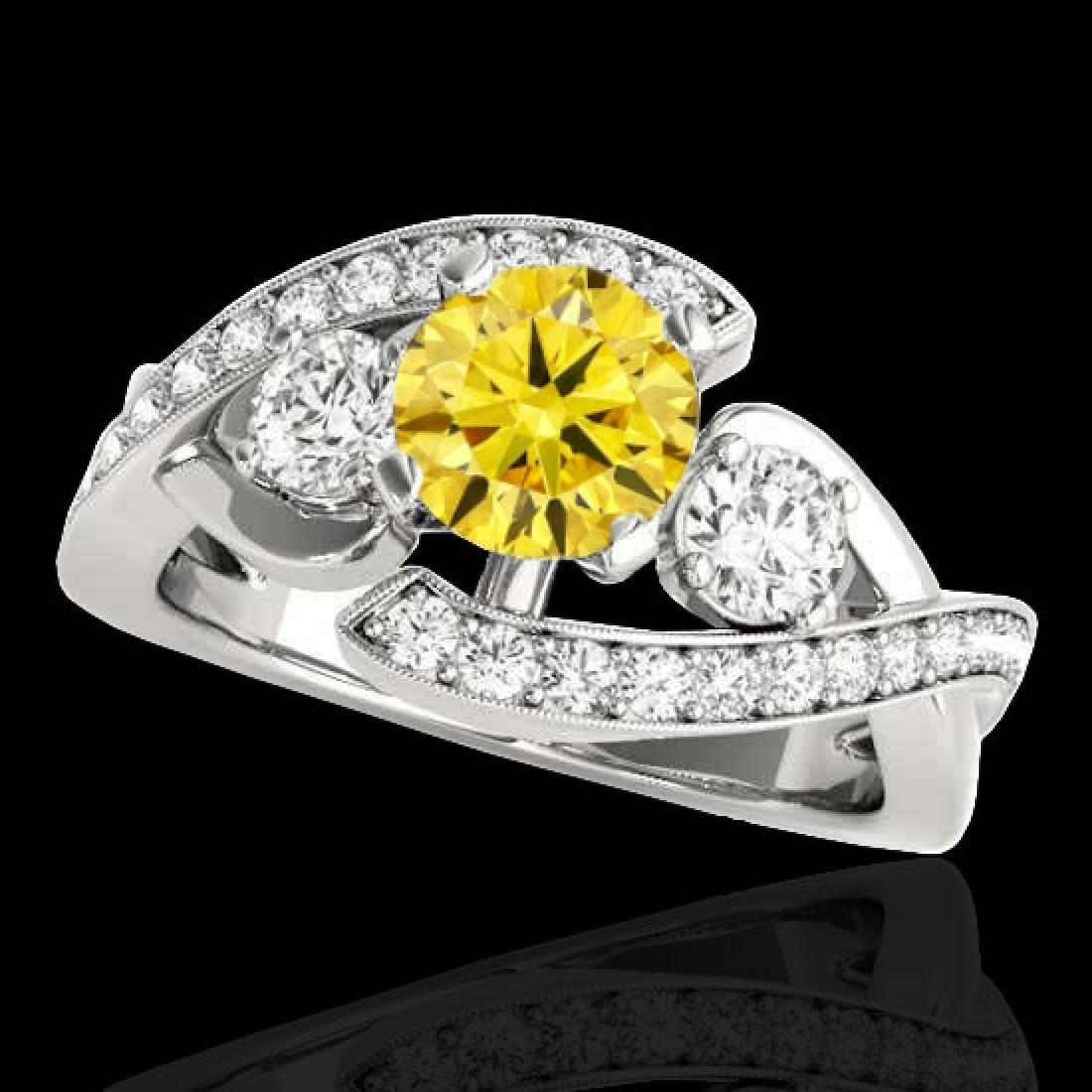 2.01 CTW Certified Si Intense Yellow Diamond Bypass