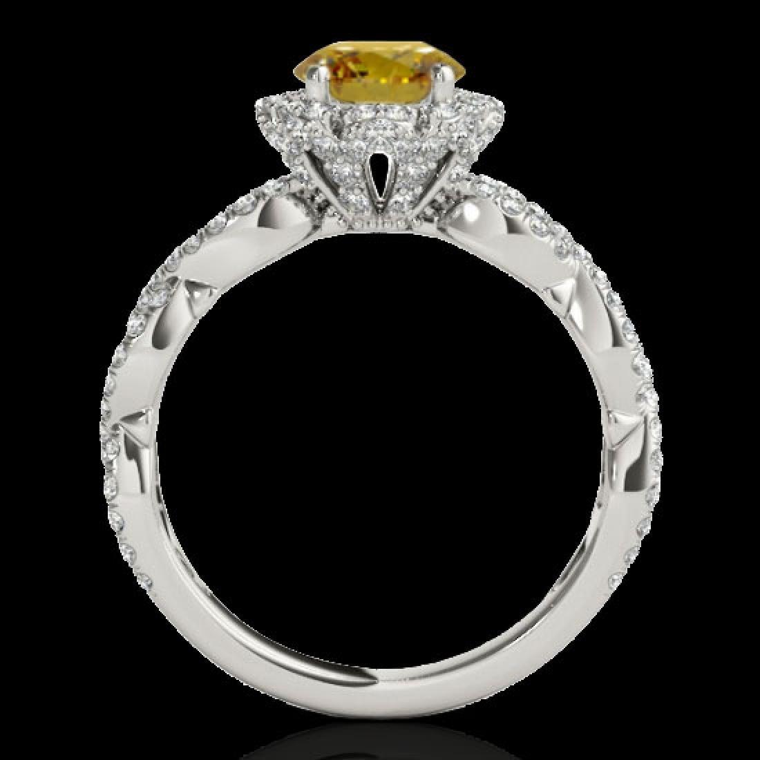 1.69 CTW Certified SI/I Fancy Intense Yellow Diamond - 2