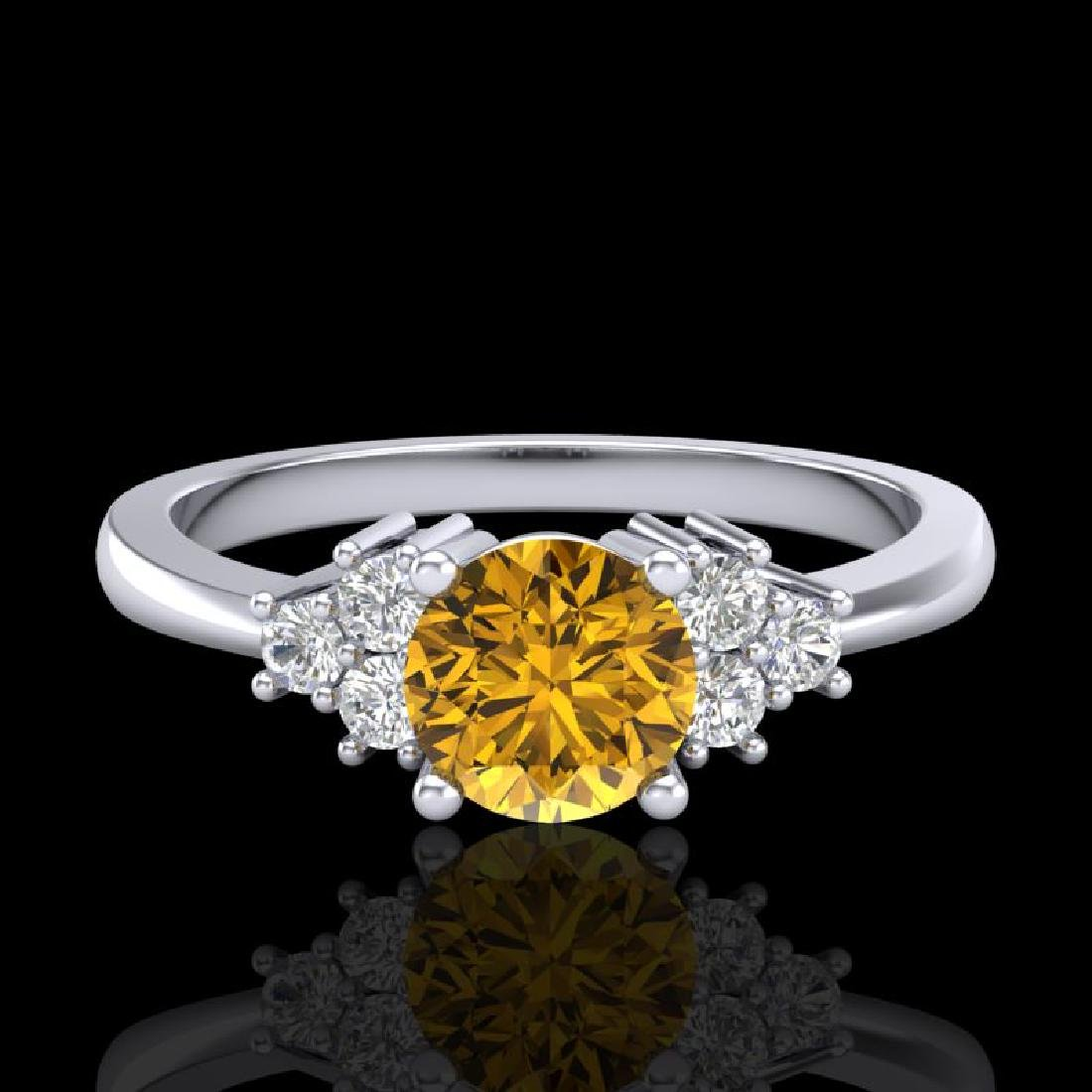 0.75 CTW Intense Fancy Yellow Diamond Engagement - 2