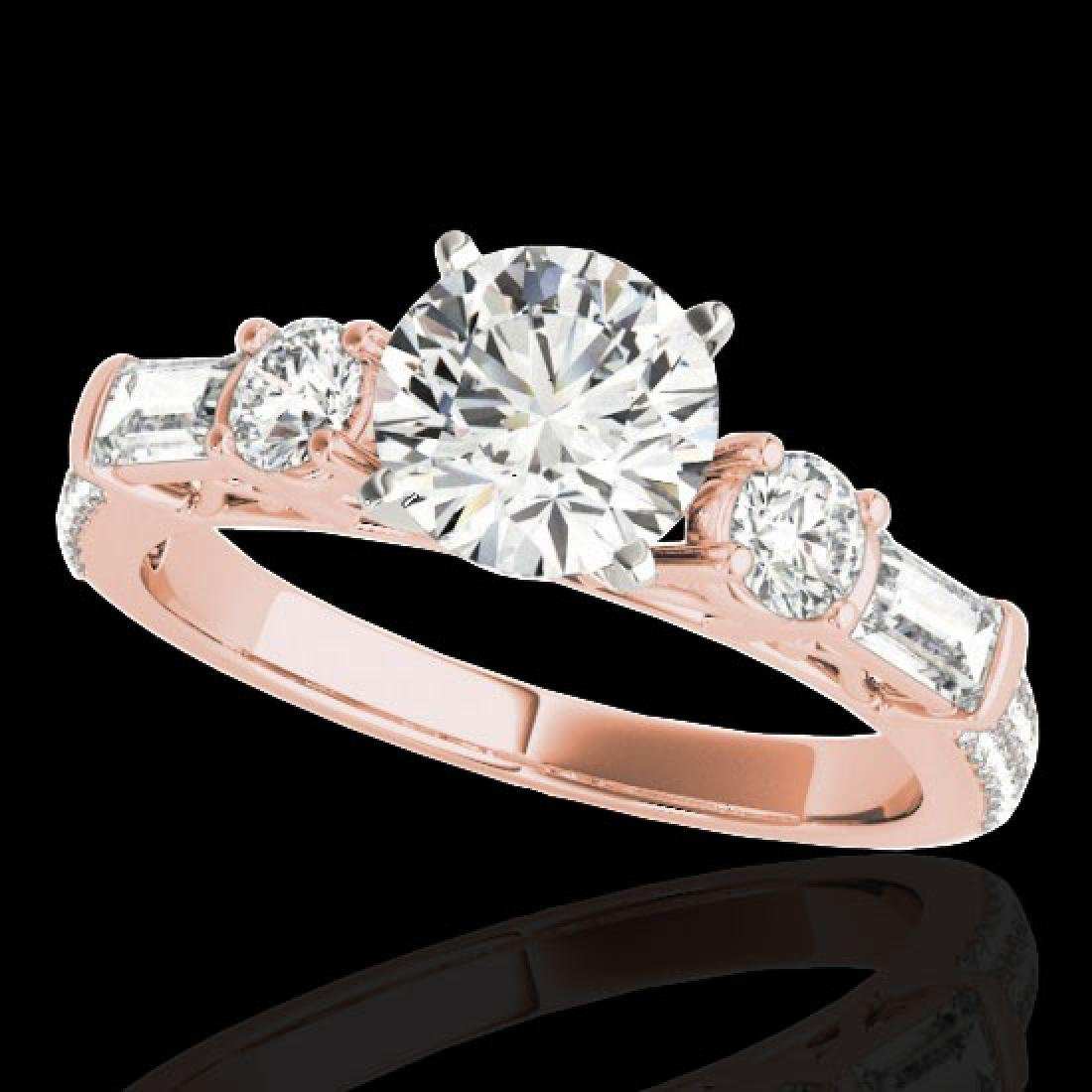 2 CTW H-SI/I Certified Diamond Pave Solitaire Ring 10K