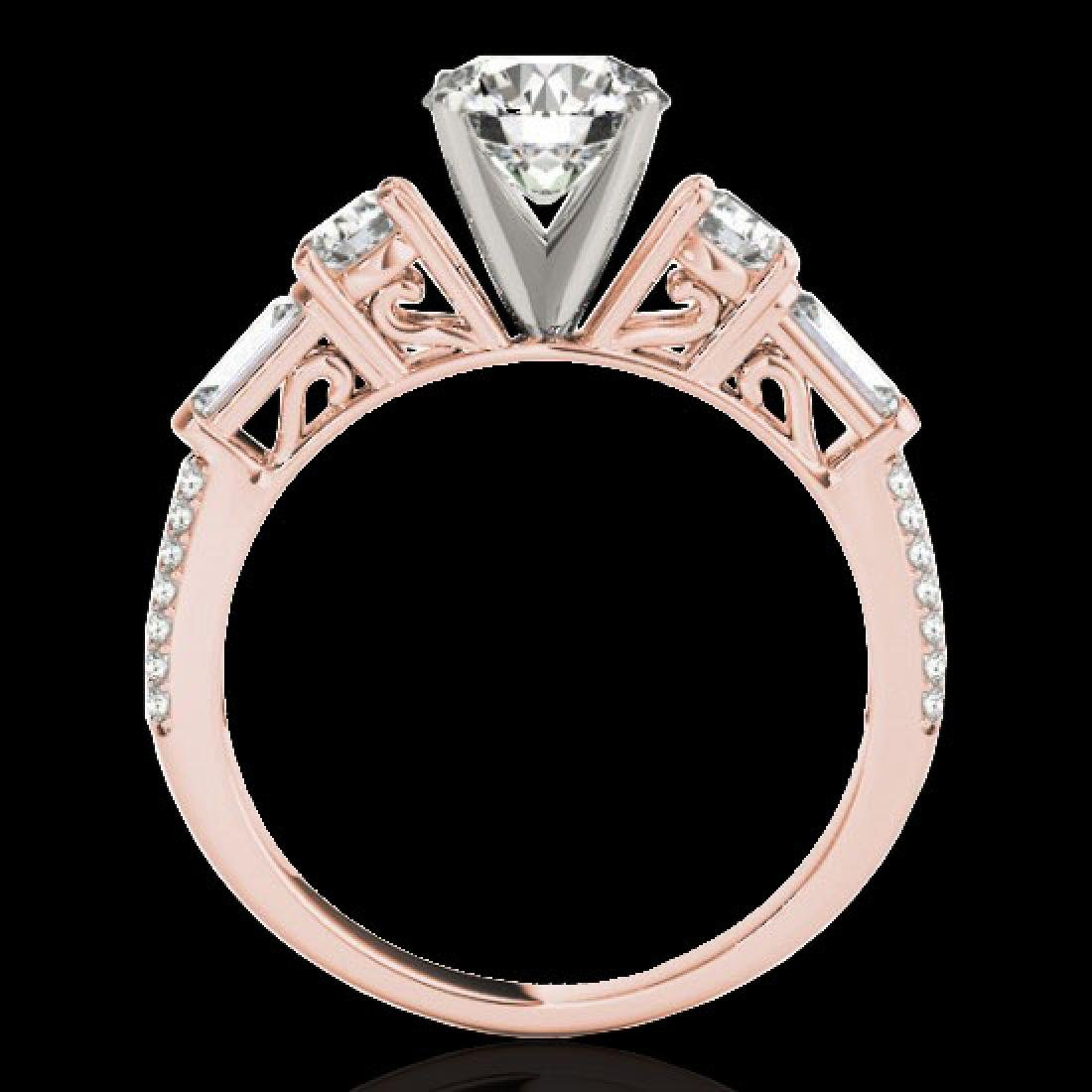 2 CTW H-SI/I Certified Diamond Pave Solitaire Ring 10K - 2