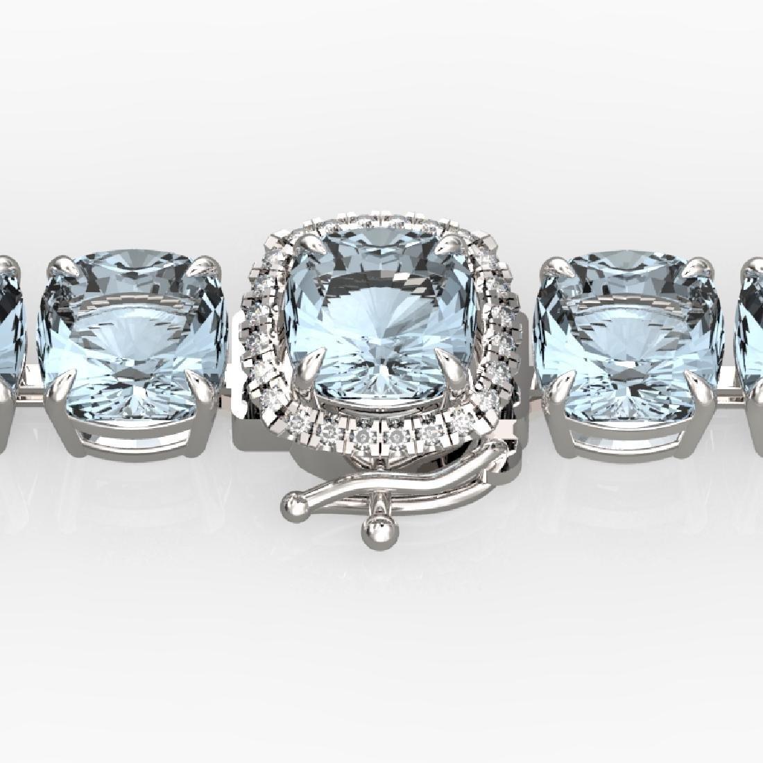 35 CTW Aquamarine & Micro VS/SI Diamond Halo Designer