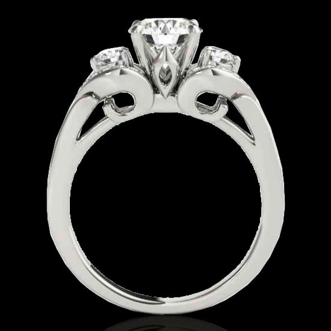 1.45 CTW H-SI/I Certified Diamond 3 Stone Ring 10K - 2