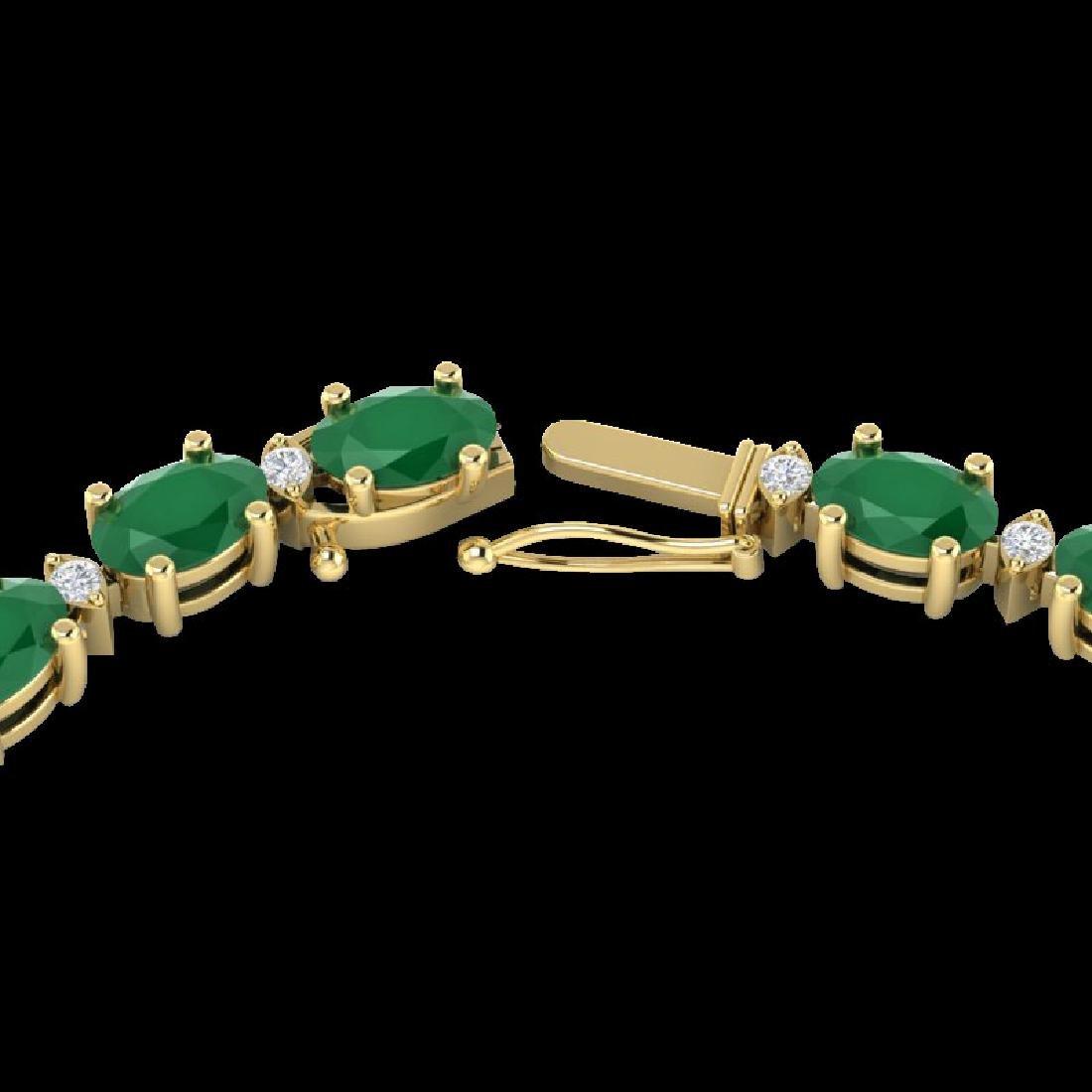 71.85 CTW Emerald & VS/SI Certified Diamond Eternity