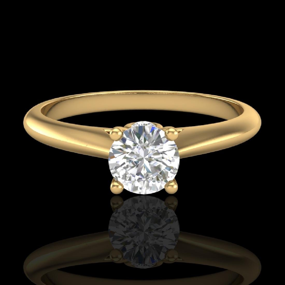 0.4 CTW VS/SI Diamond Solitaire Art Deco Ring 18K