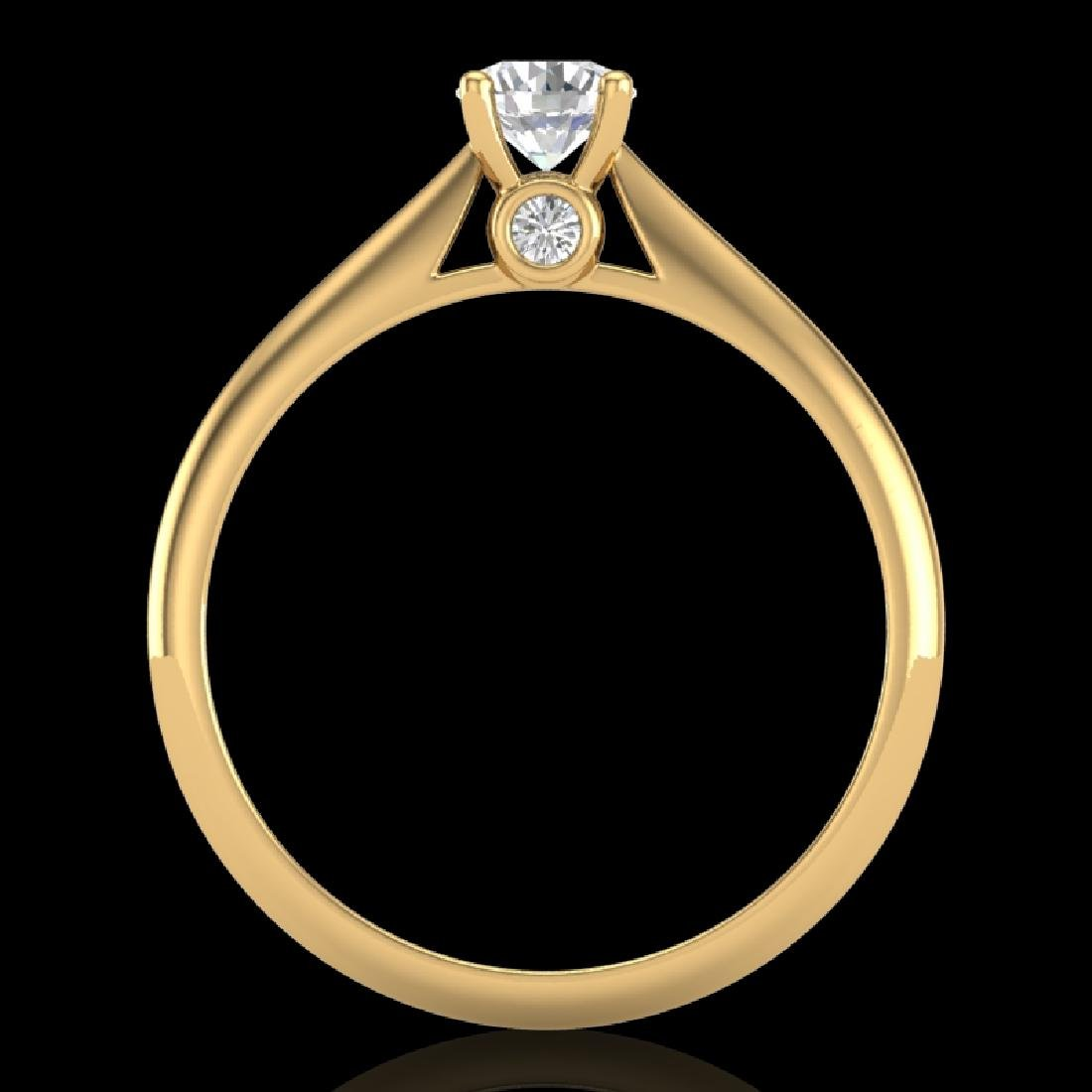 0.4 CTW VS/SI Diamond Solitaire Art Deco Ring 18K - 2