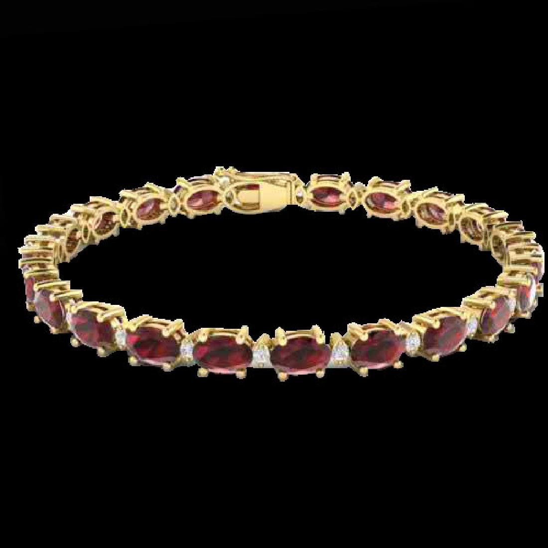 25.8 CTW Garnet & VS/SI Certified Diamond Eternity - 2