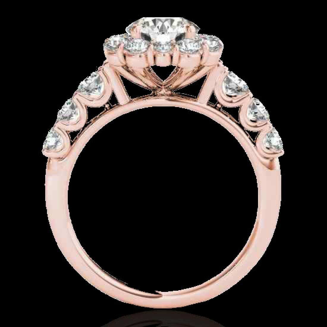 2.9 CTW H-SI/I Certified Diamond Solitaire Halo Ring - 2