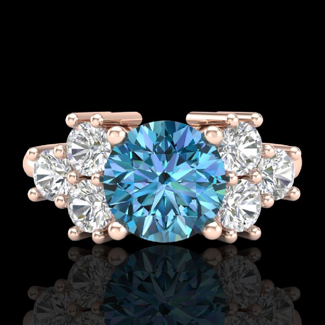 2.1 CTW Intense Blue Diamond Solitaire Engagement - 2