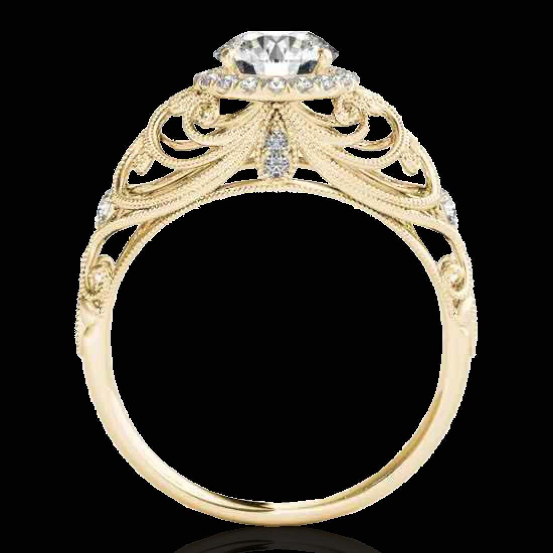 1.22 CTW H-SI/I Certified Diamond Solitaire Halo Ring - 2