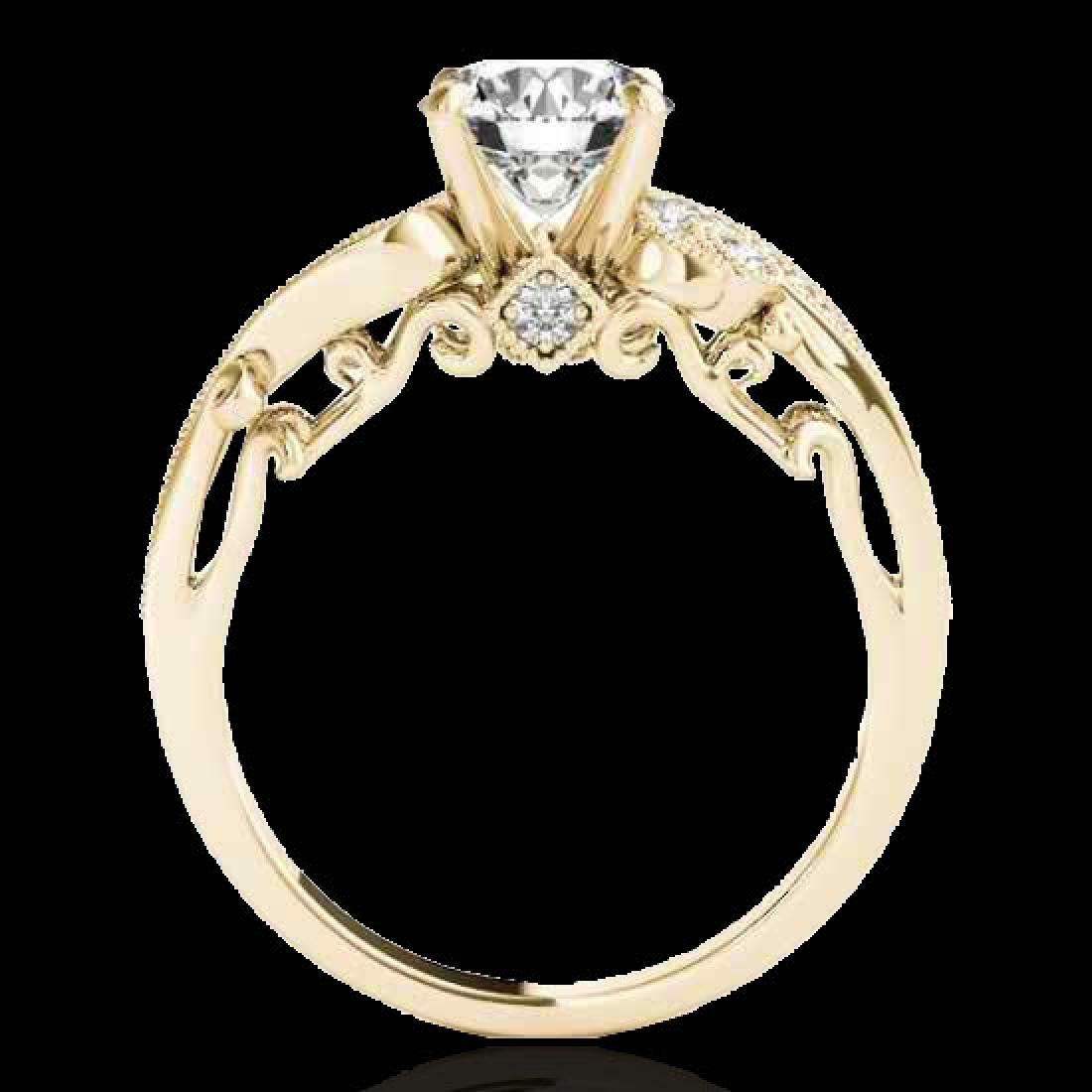 1.25 CTW H-SI/I Certified Diamond Solitaire Antique - 2