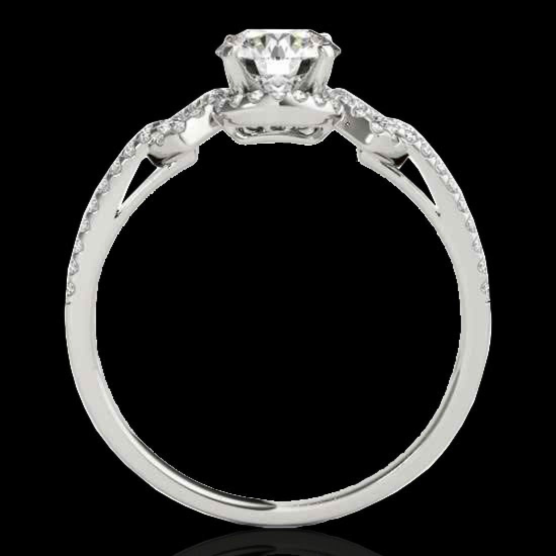 1.36 CTW H-SI/I Certified Diamond Solitaire Ring 10K - 2