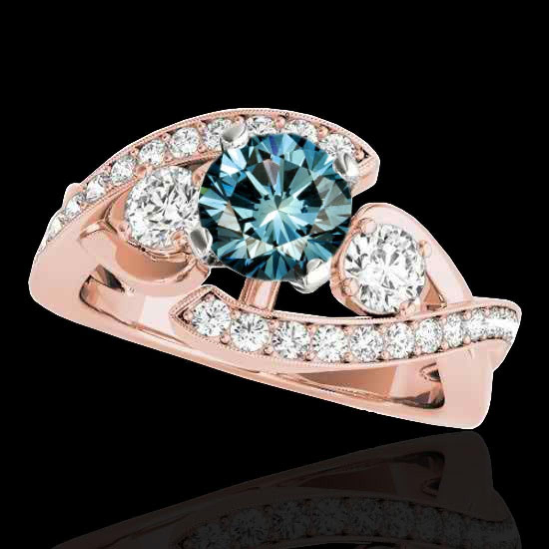 2.01 CTW SI Certified Fancy Blue Diamond Bypass