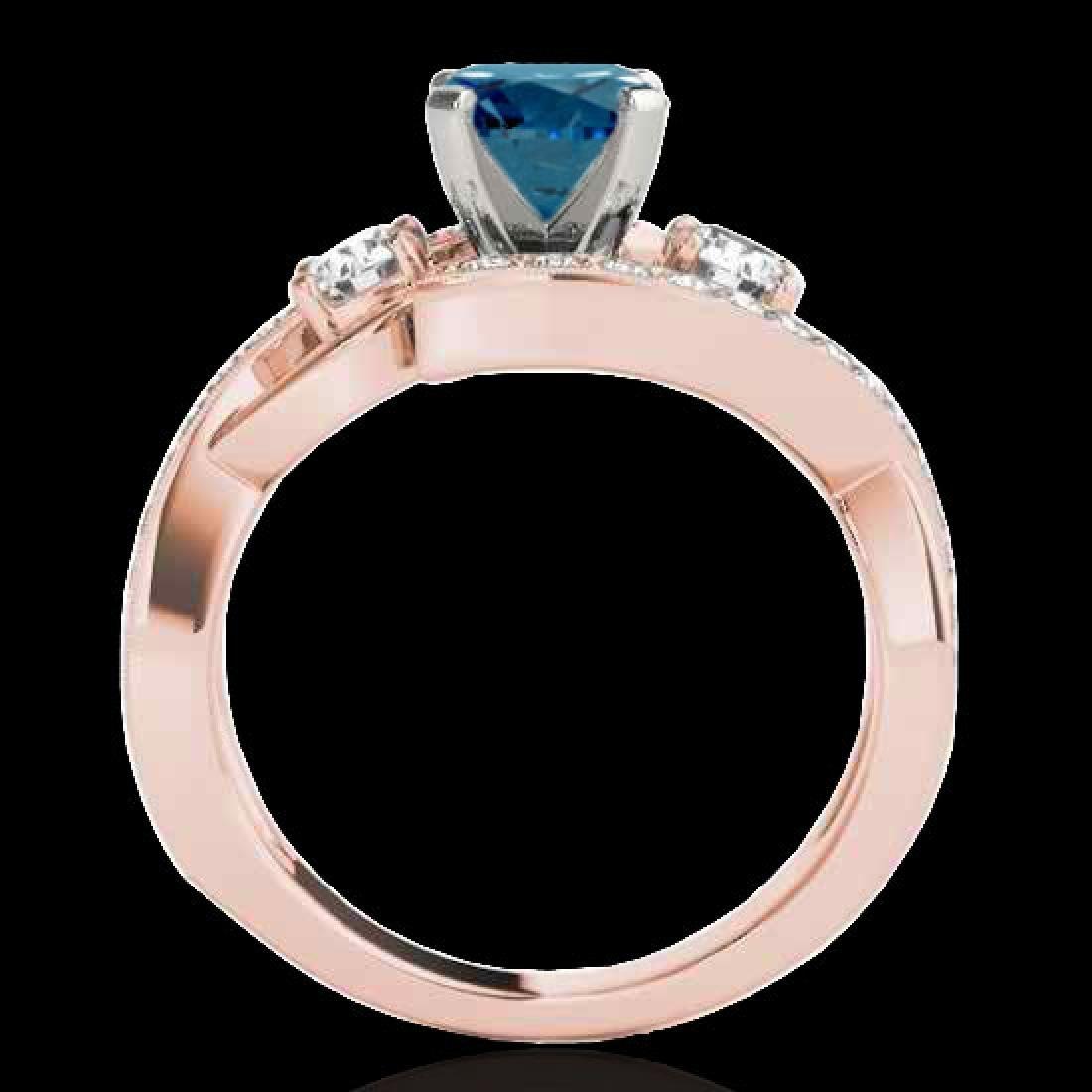 2.01 CTW SI Certified Fancy Blue Diamond Bypass - 2