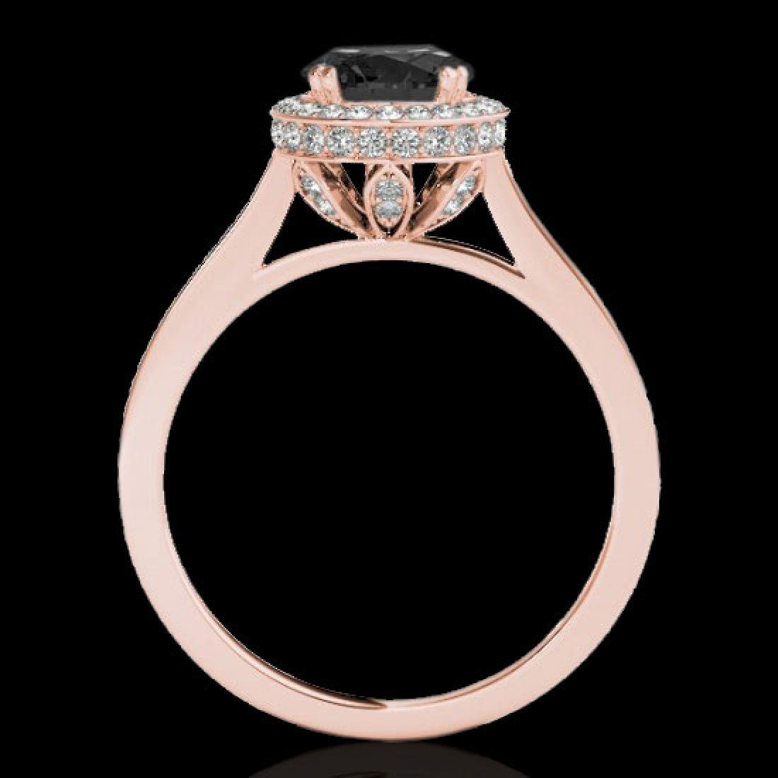 2.03 CTW Certified VS Black Diamond Solitaire Halo Ring - 2