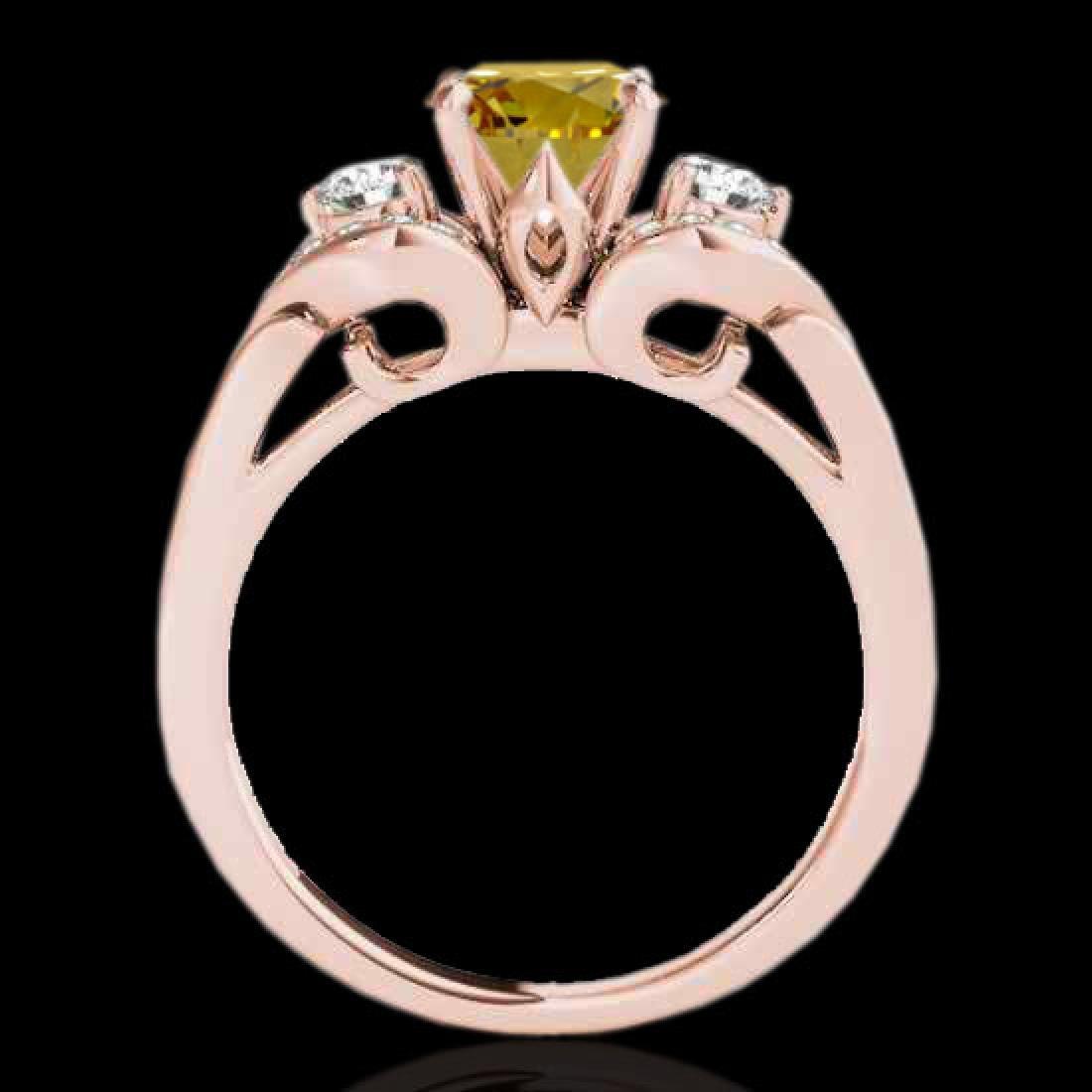 1.45 CTW Certified SI/I Fancy Intense Yellow Diamond 3 - 2