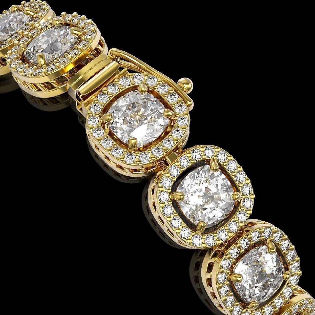 14.41 CTW Cushion Diamond Designer Bracelet 18K Yellow - 3