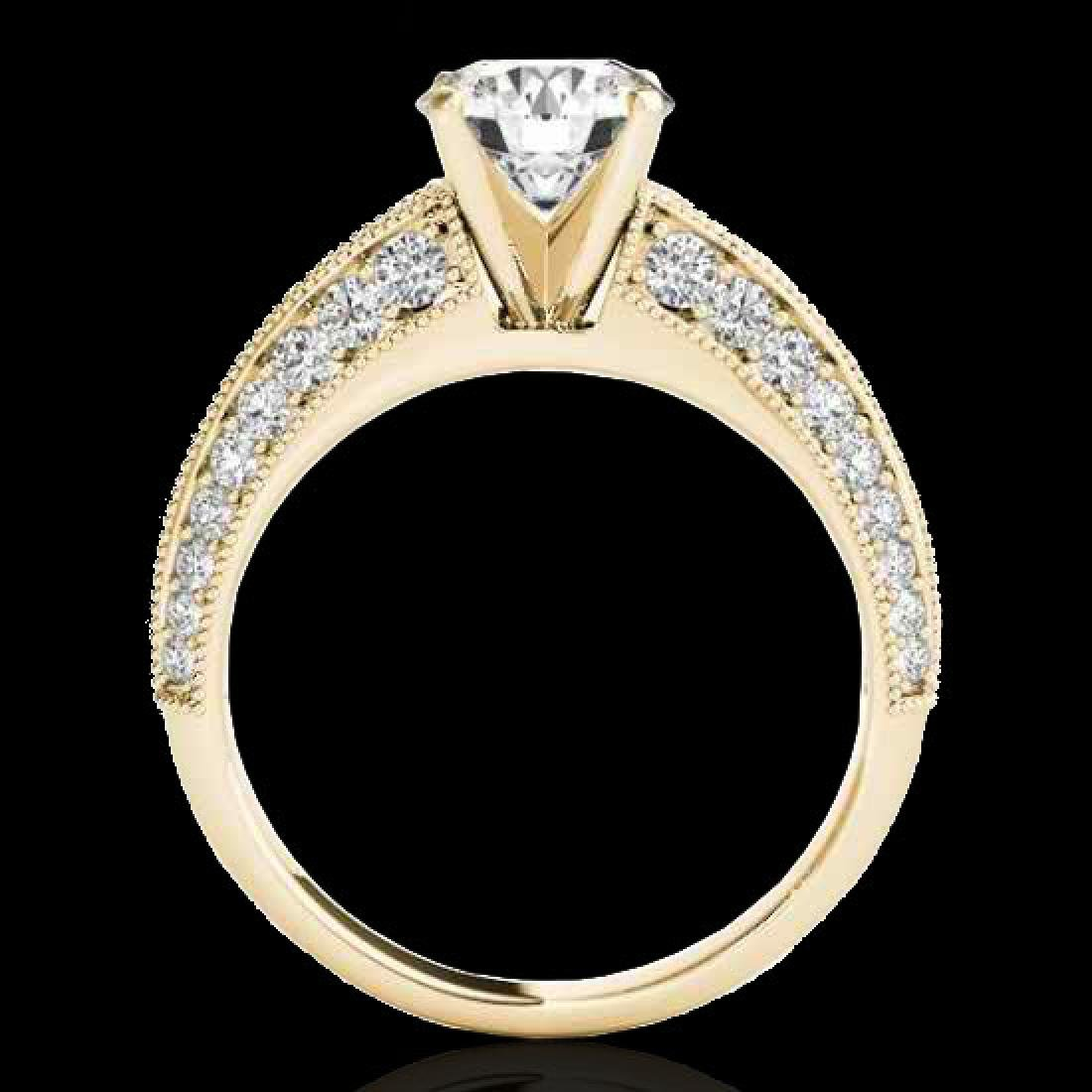 1.58 CTW H-SI/I Certified Diamond Solitaire Antique - 2