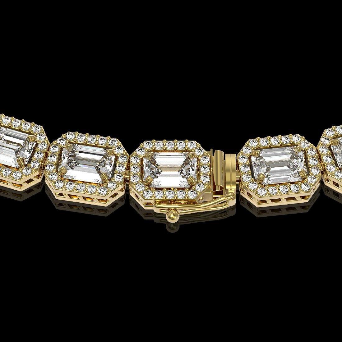 33.10 CTW Emerald Cut Diamond Designer Necklace 18K - 3