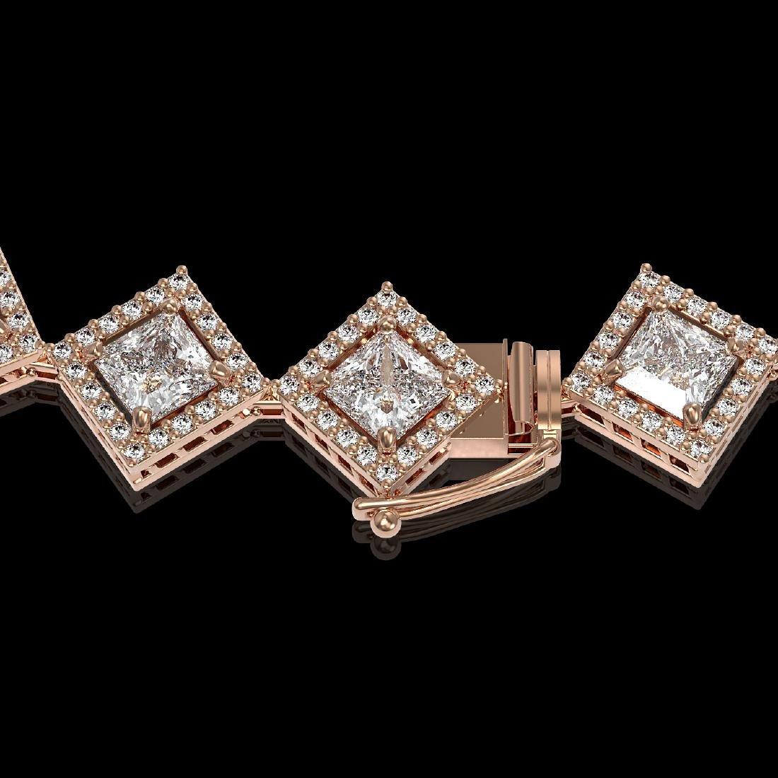 26.88 CTW Princess Cut Diamond Designer Necklace 18K - 3