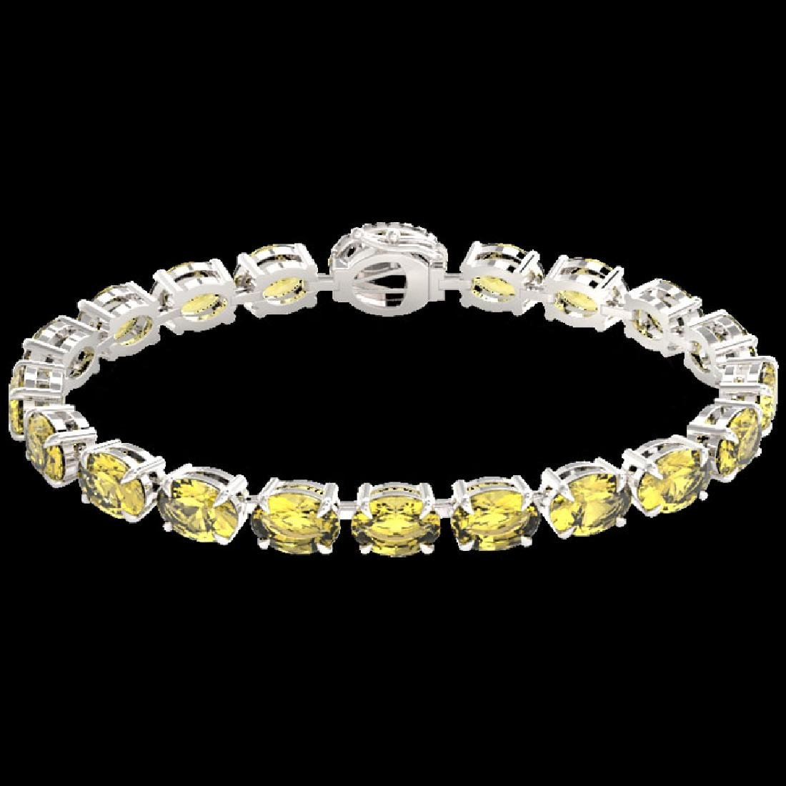 29 CTW Citrine & VS/SI Diamond Tennis Micro Pave Halo - 2