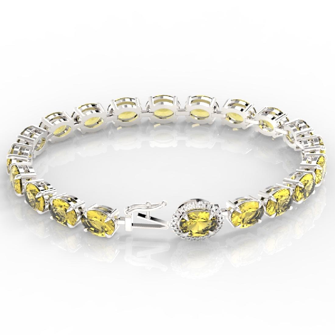 29 CTW Citrine & VS/SI Diamond Tennis Micro Pave Halo - 3