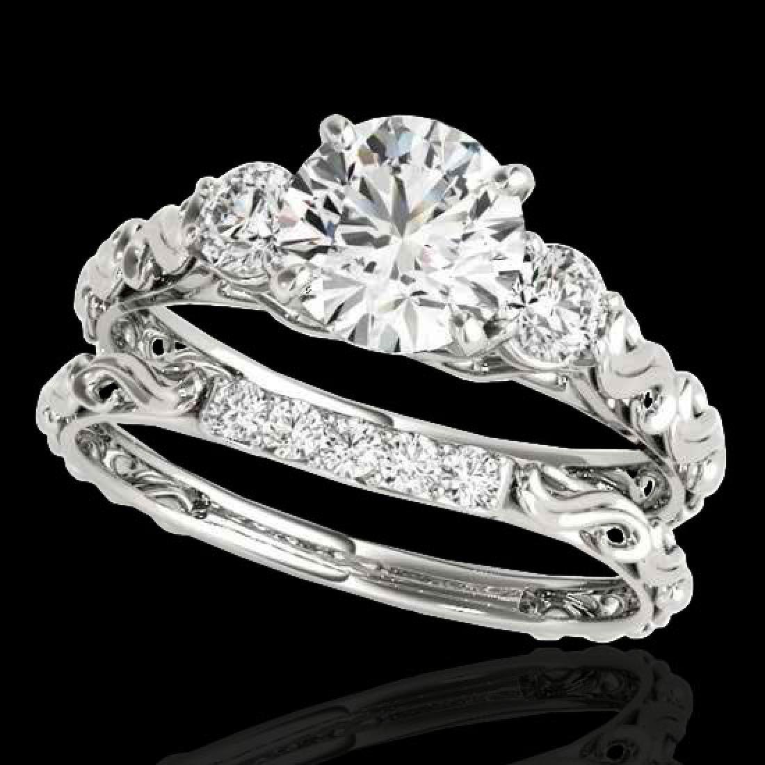 1.35 CTW H-SI/I Certified Diamond 3 Stone Ring 10K