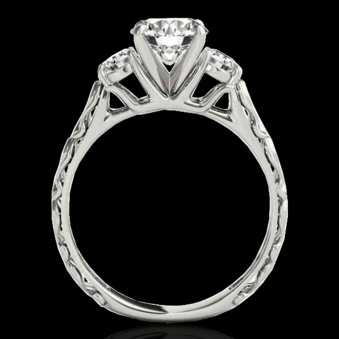 1.35 CTW H-SI/I Certified Diamond 3 Stone Ring 10K - 2