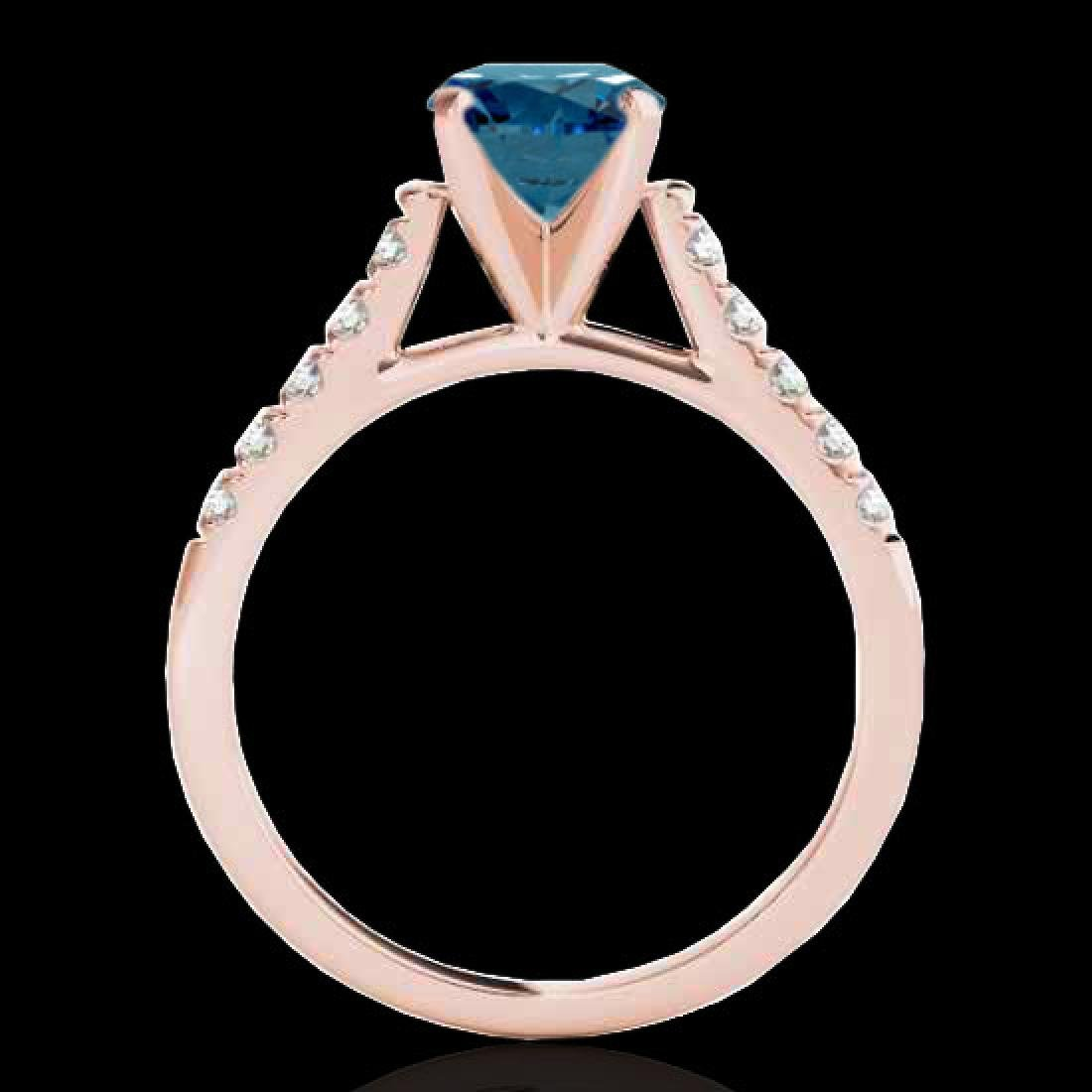1.45 CTW SI Certified Fancy Blue Diamond Solitaire Ring - 2