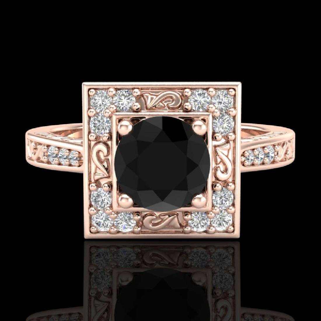 1.1 CTW Fancy Black Diamond Solitaire Engagement Art - 2