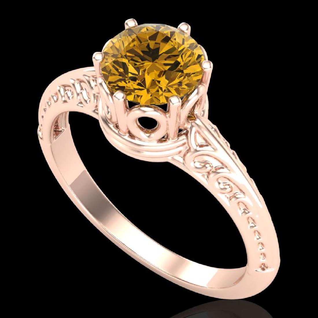 1 CTW Intense Yellow Diamond Solitaire Engagement Art