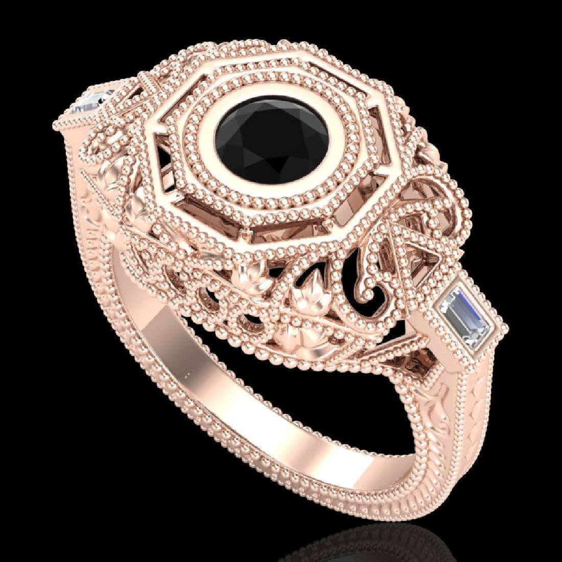 0.75 CTW Fancy Black Diamond Solitaire Engagement Art