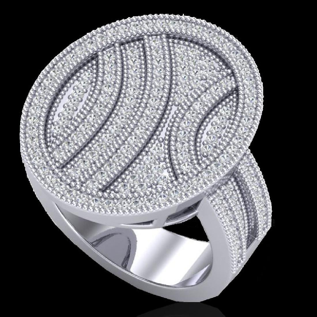 1.25 CTW Micro Pave VS/SI Diamond Ring 14K White Gold
