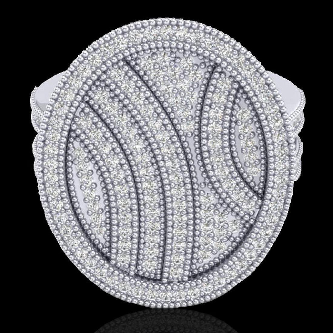 1.25 CTW Micro Pave VS/SI Diamond Ring 14K White Gold - 2