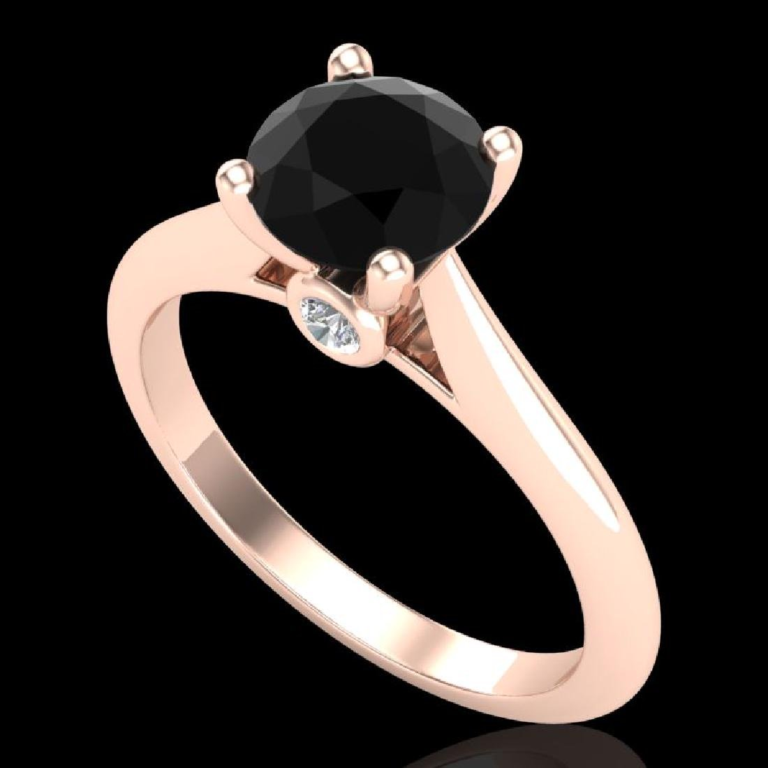 1.36 CTW Fancy Black Diamond Solitaire Engagement Art