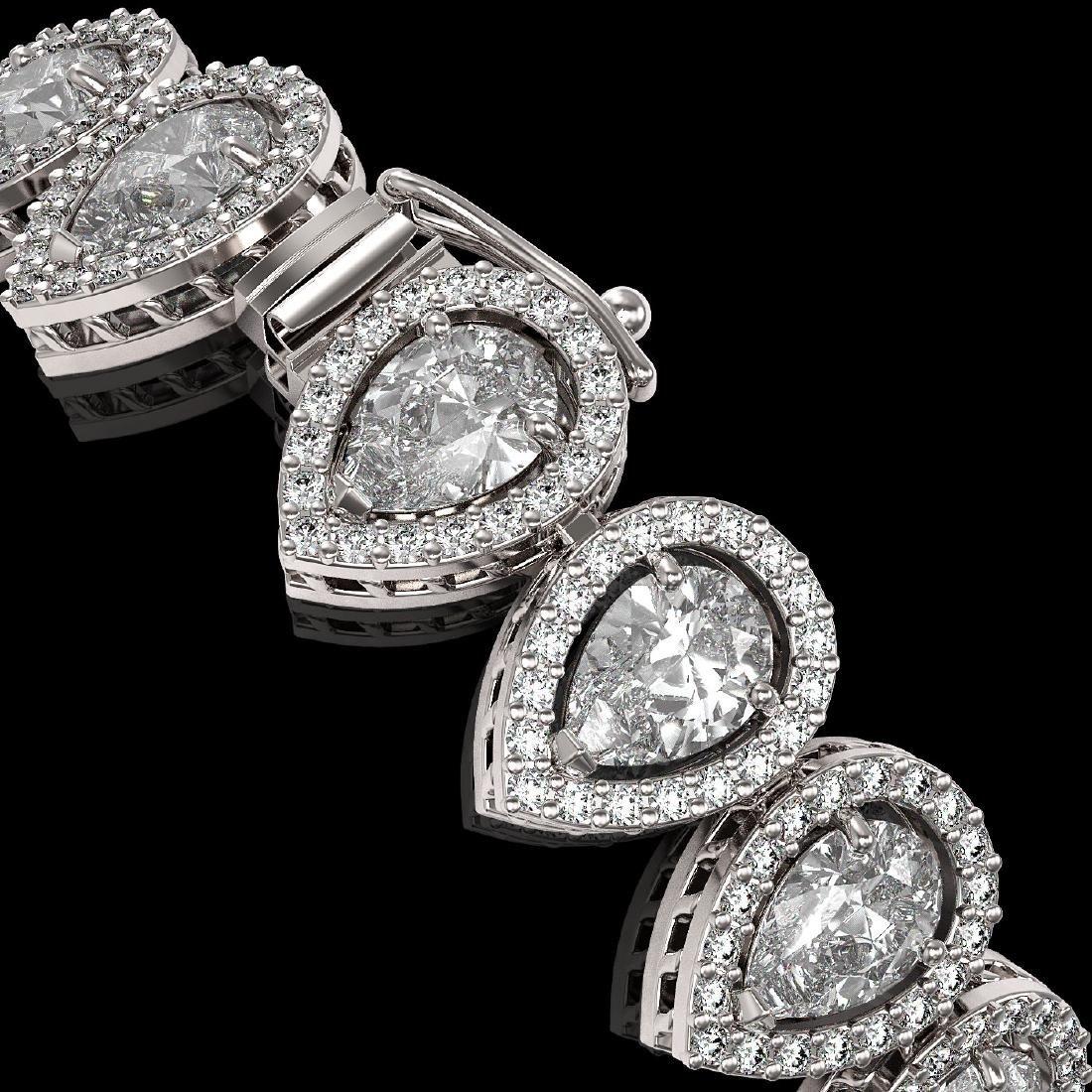 15.85 CTW Pear Diamond Designer Bracelet 18K White Gold - 3