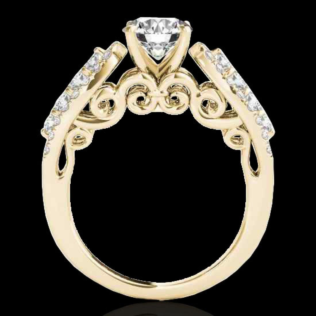 1.7 CTW H-SI/I Certified Diamond Solitaire Ring 10K - 2