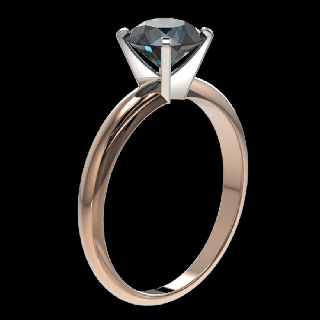 1.55 CTW Certified Intense Blue SI Diamond Solitaire - 3