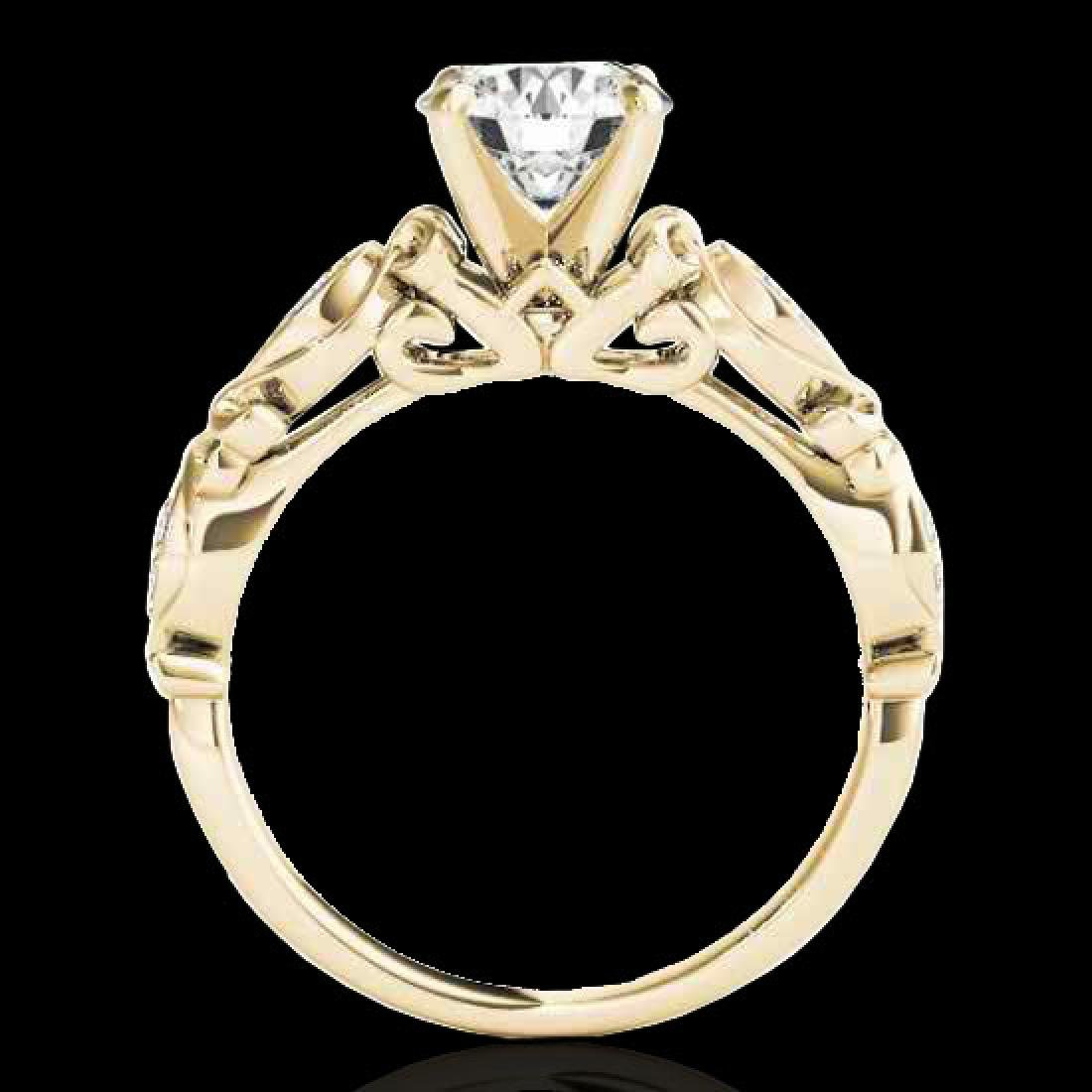 1.1 CTW H-SI/I Certified Diamond Solitaire Antique Ring - 2