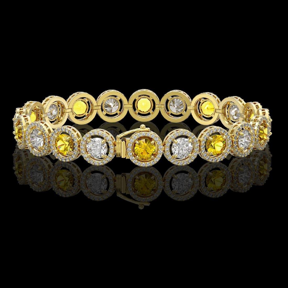 13.76 CTW Canary Yellow & White Diamond Designer - 2