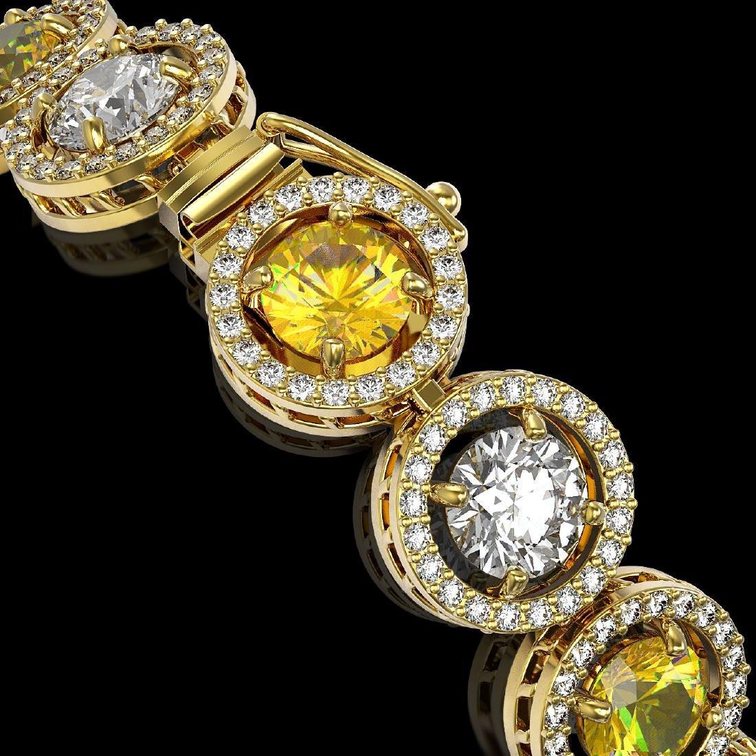 13.76 CTW Canary Yellow & White Diamond Designer - 3