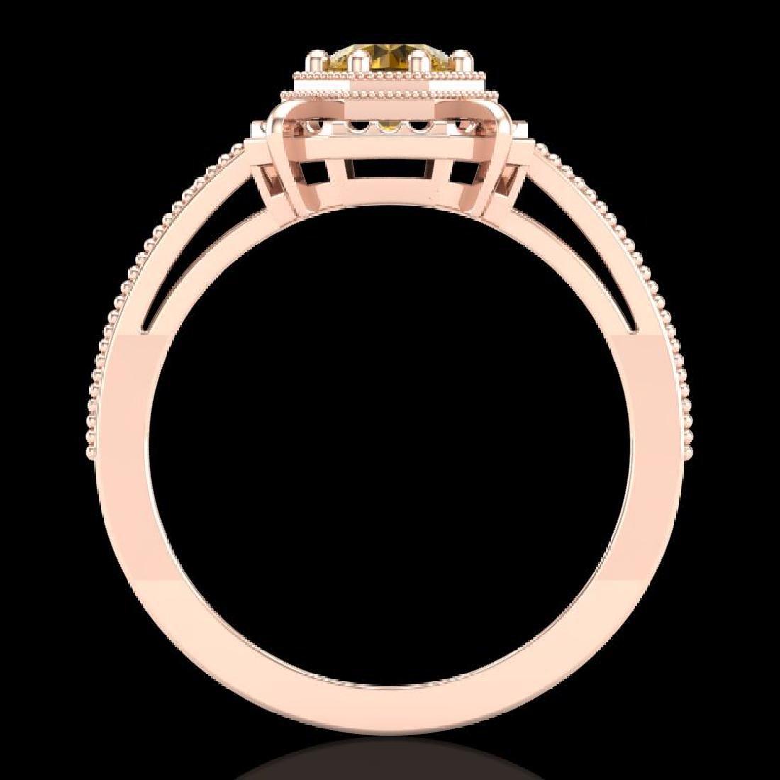 0.53 CTW Intense Fancy Yellow Diamond Engagement Art - 2