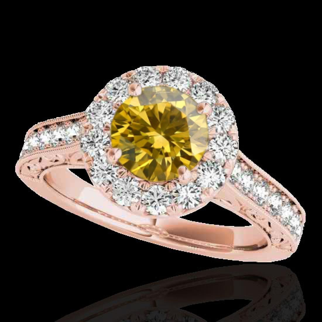 2.22 CTW Certified SI/I Fancy Intense Yellow Diamond