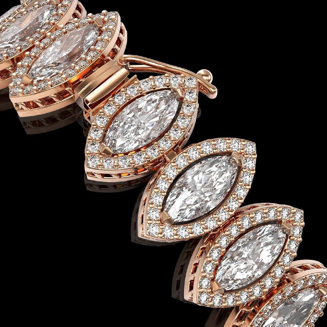 17.55 CTW Marquise Diamond Designer Bracelet 18K Rose - 2