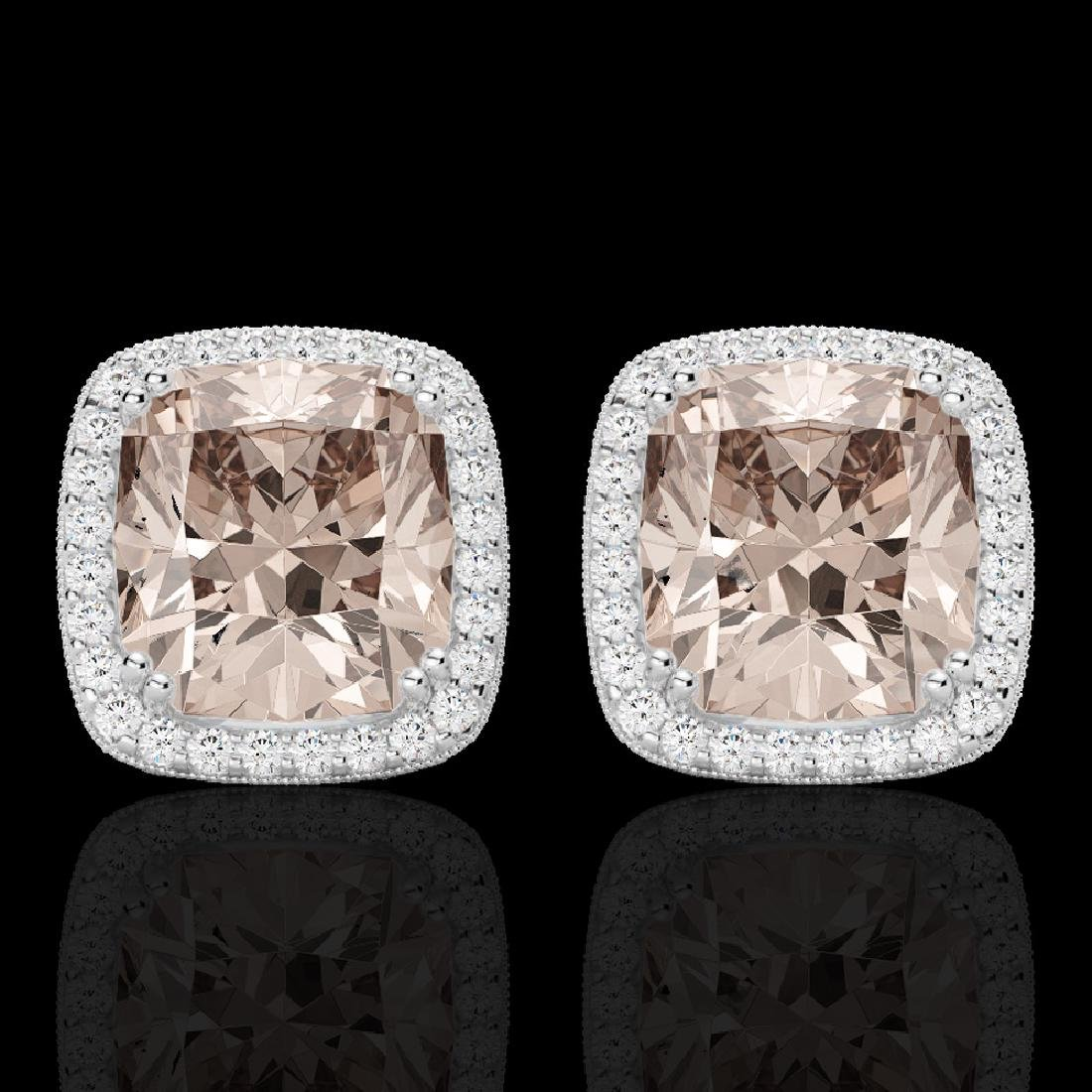 6 CTW Morganite & Micro Pave VS/SI Diamond Halo