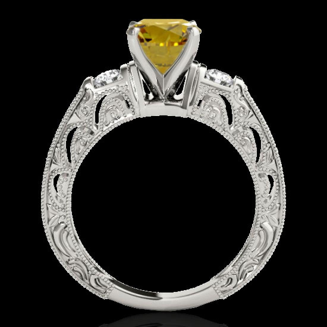 1.63 CTW Certified Si Intense Yellow Diamond Solitaire - 2