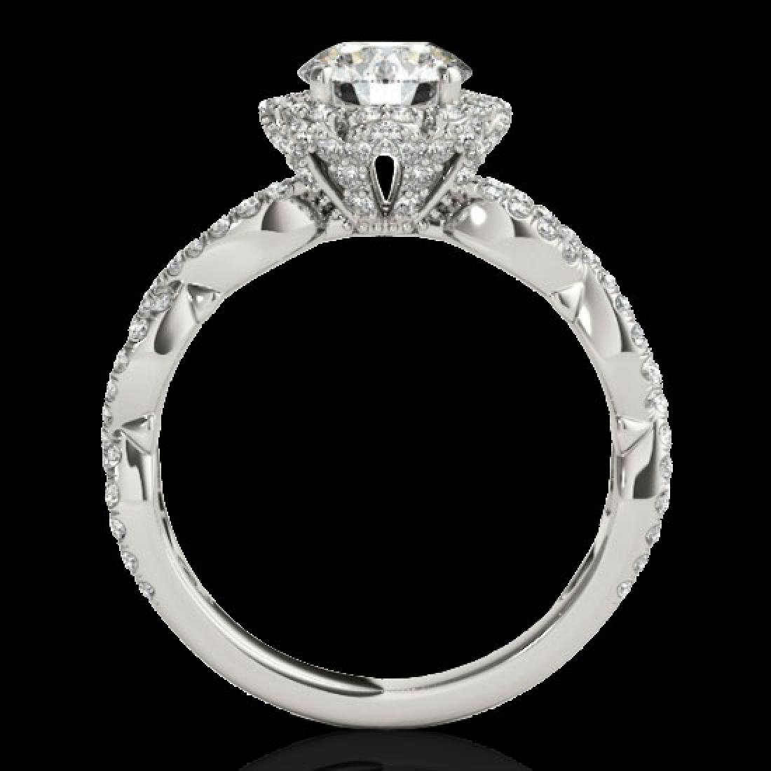 1.69 CTW H-SI/I Certified Diamond Solitaire Halo Ring - 2