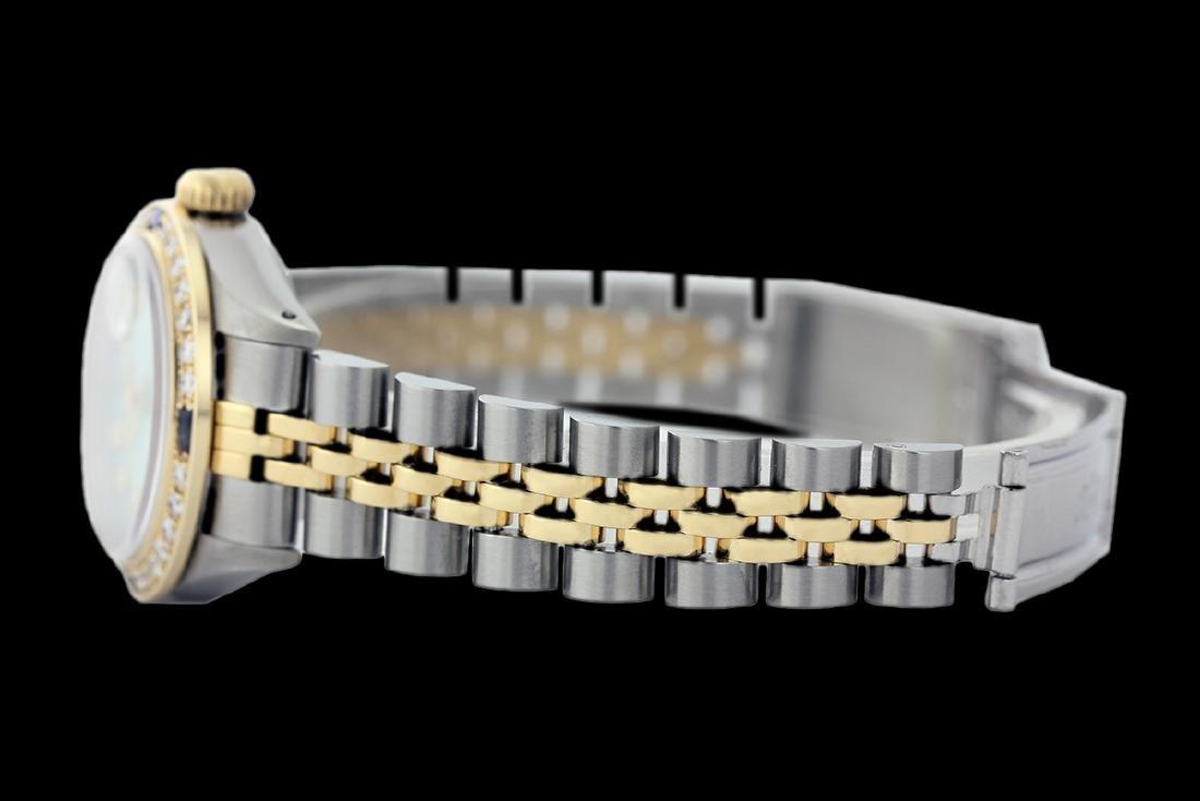 Rolex Ladies Two Tone 14K Gold/SS, Diam/Sapphire Dial & - 2