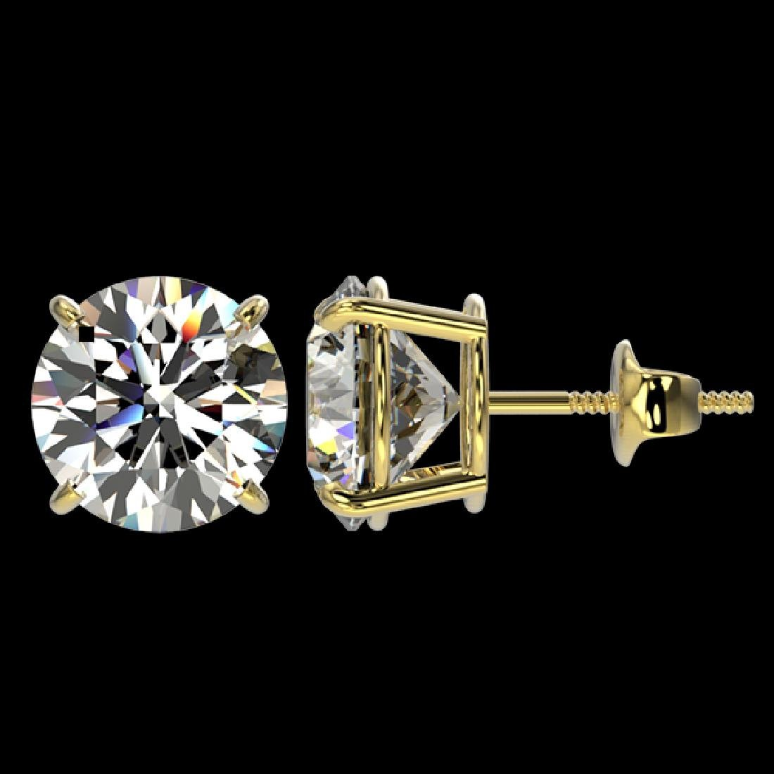 4.04 CTW Certified H-I Quality Diamond Solitaire Stud - 2