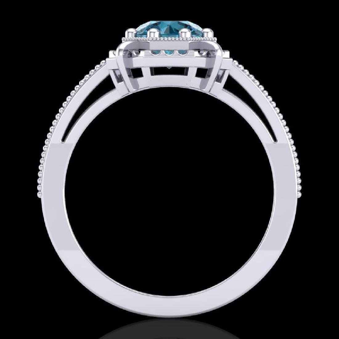 1 CTW Intense Blue Diamond Solitaire Engagement Art - 3